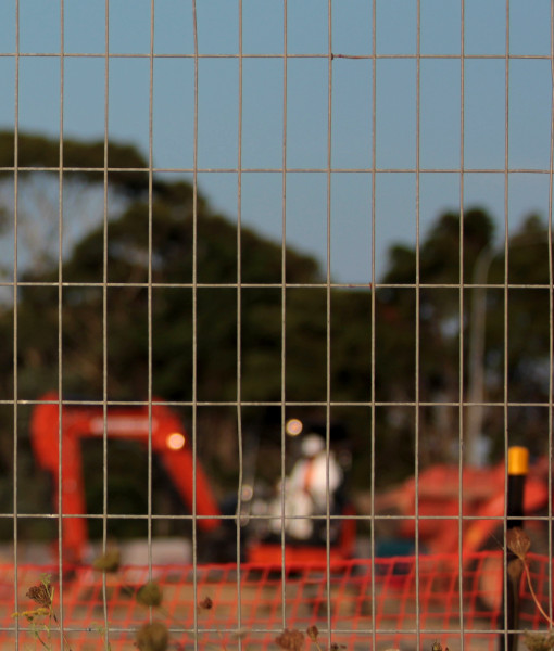 picture of heras fencing outlining building site boundaries