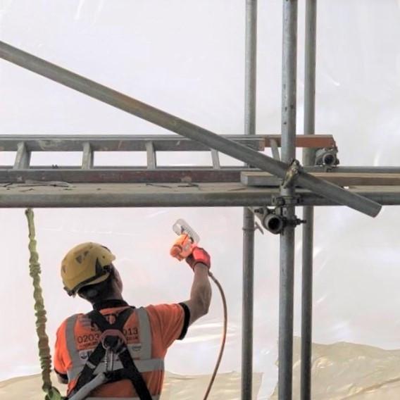Scaffolding shrink wrap service