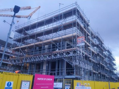 picture of commercial scaffolding project completed by atd scaffolding