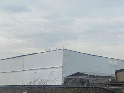 picture of a scaffolding with morarflex sheeting