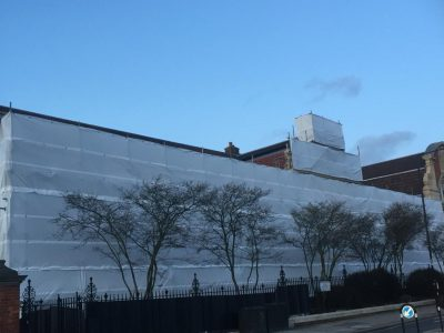 picture of commercial scaffolding project completed by atd